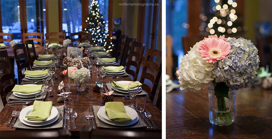 Bottega Kelowna wedding reception table