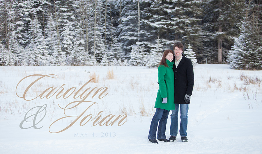 Canmore Winter Engagement Photography