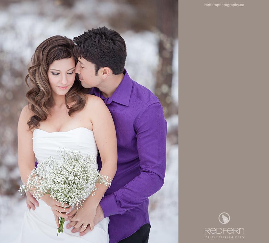 Okanagan Winter Wedding Photos