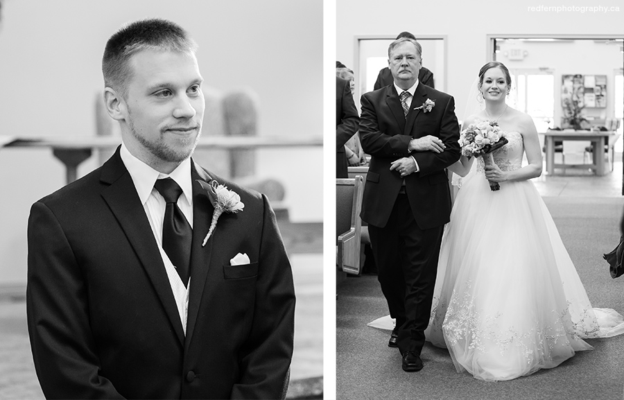 Wedding Ceremony at Bethel United Reformed Church of Calgary