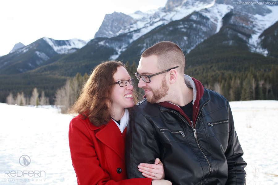 Quarry Lake meadow Canmore engagement pictures