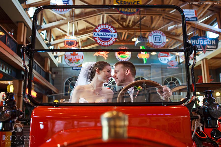 Gasoline Alley wedding photo