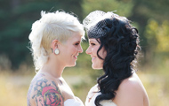 Two brides wedding photos