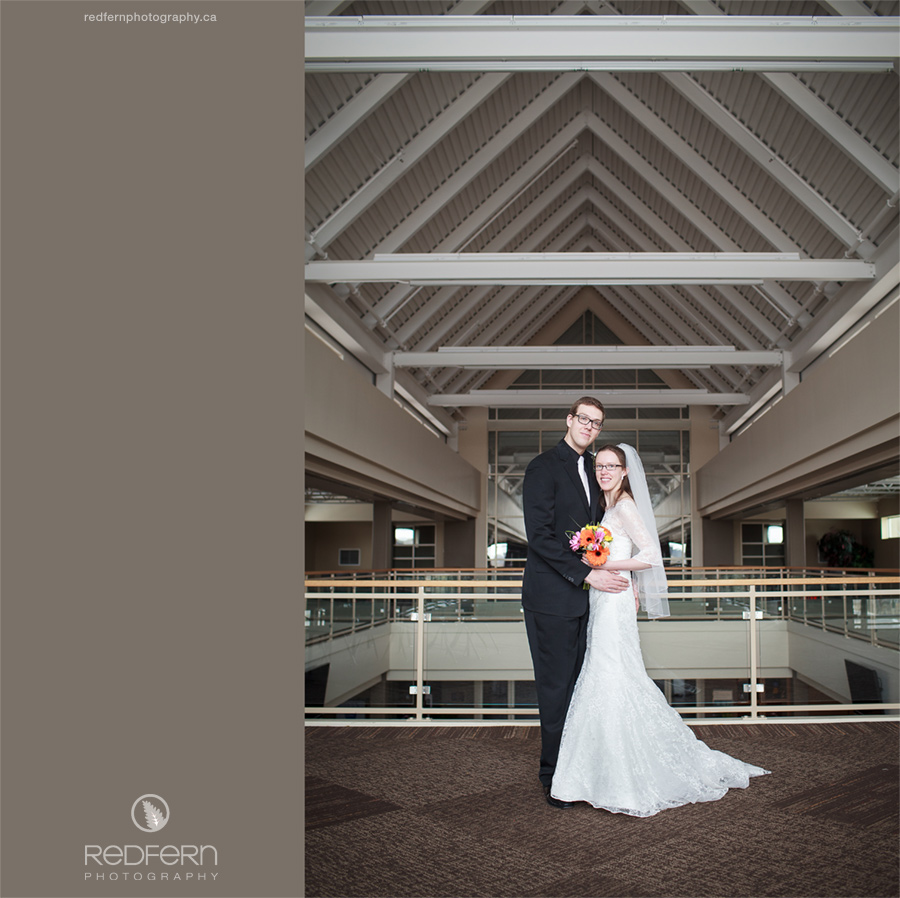 Calgary church wedding indoor photo