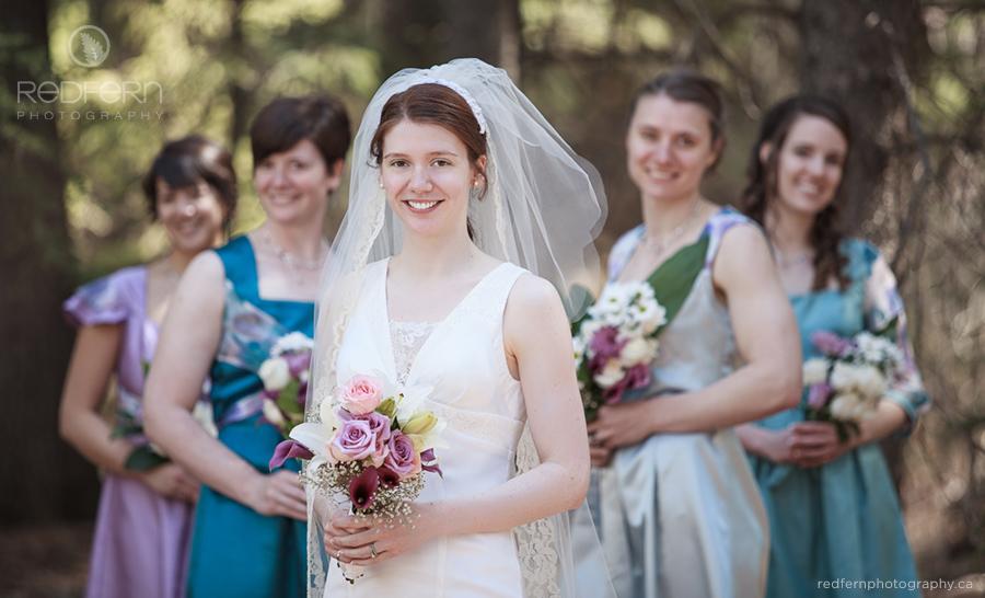 Bride and bridesmaids photo