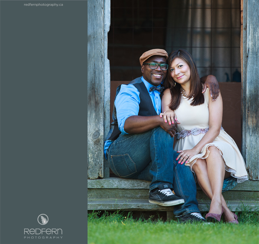 Kelowna summer engagment photos at Father Pandosy Mission