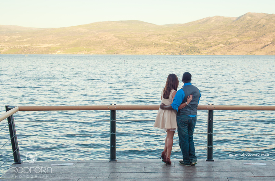 Kelowna summer engagment photos at okanagan lake in westbank