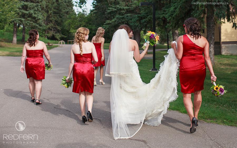 the ranche calgary wedding pictures bride bridesmaids