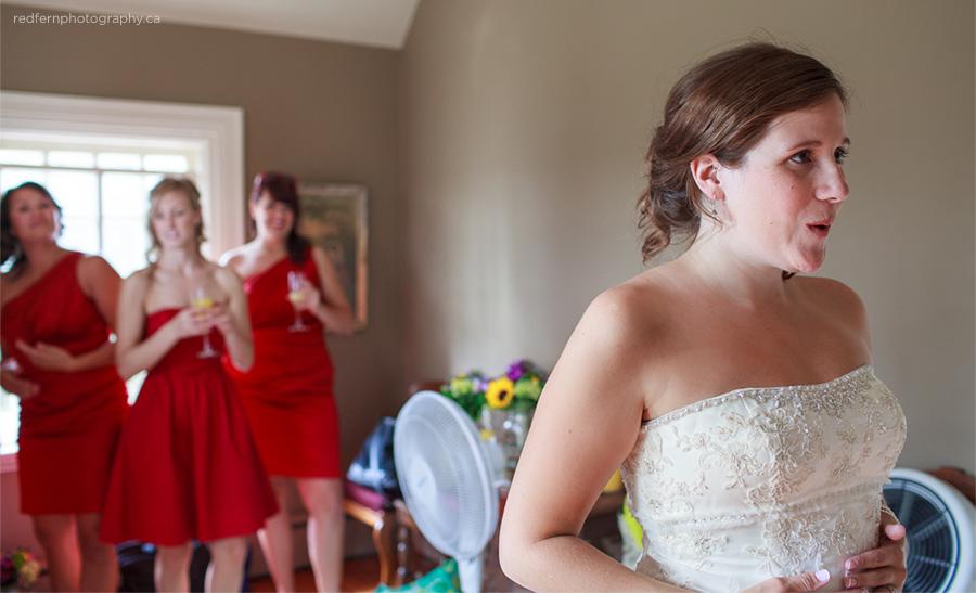 Bride getting ready prep the ranche calgary photo
