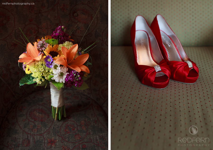 3_red_wedding_shoes_colourful_bouquet