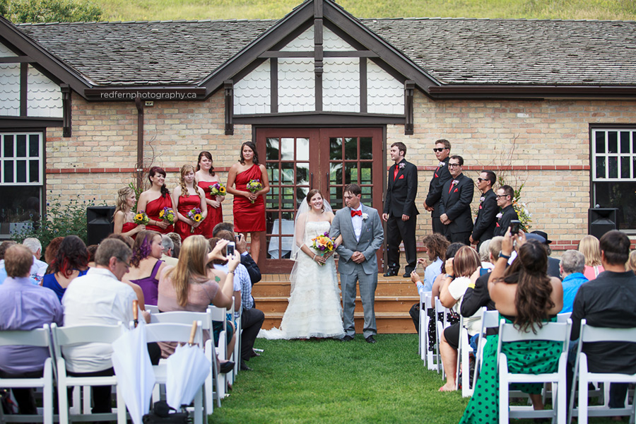 outdoor wedding ceremony the ranche calgary pictures
