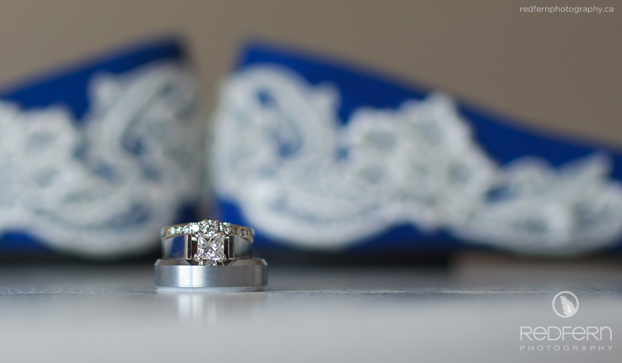 Blue wedding shoes picture