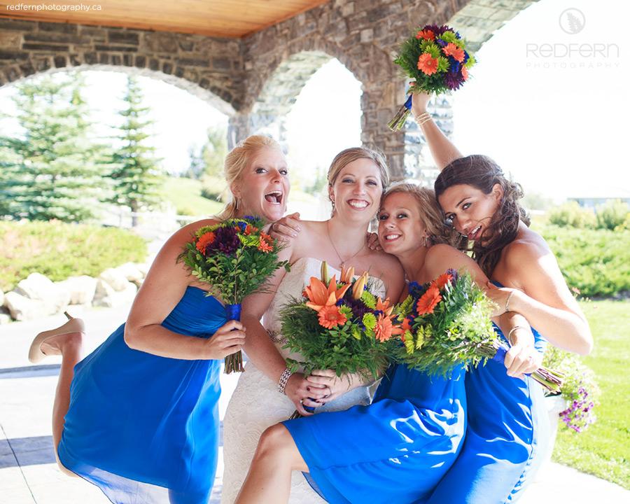 cochrane gleneagles golf wedding party bridesmaids