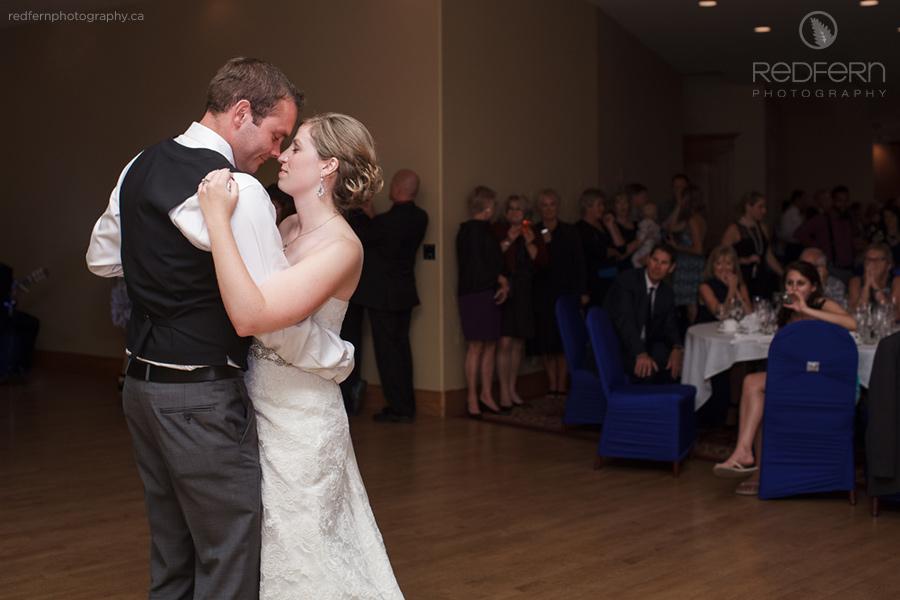 cochrane gleneagles golf wedding reception first dance