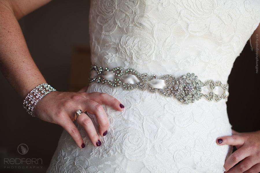 Wedding dress jeweled sash