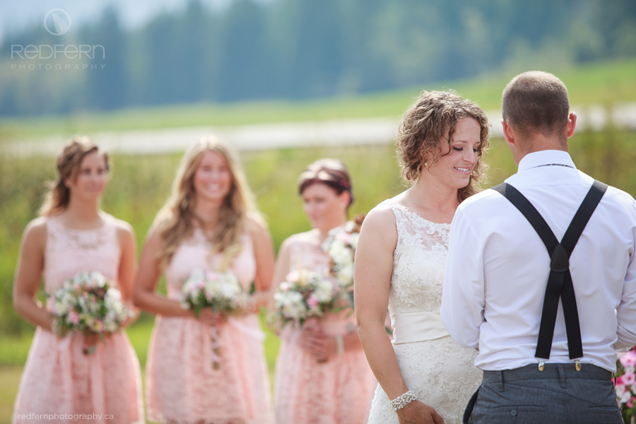 outdoor wedding ceremony salmon arm farm shuswap