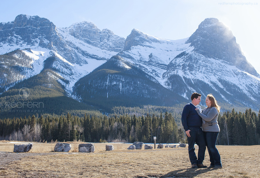 canmore rocky mountains engagement pictures
