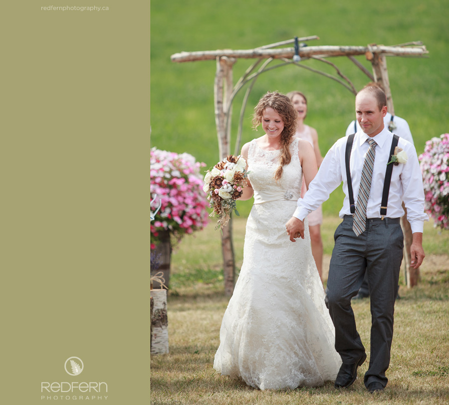 outdoor wedding shuswap farm salmon arm bc