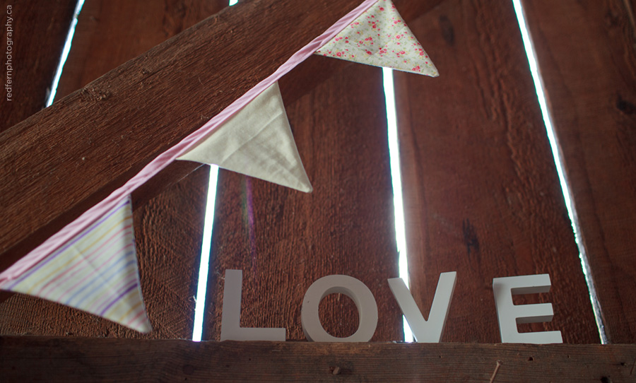 wedding barn decor bunting love sign