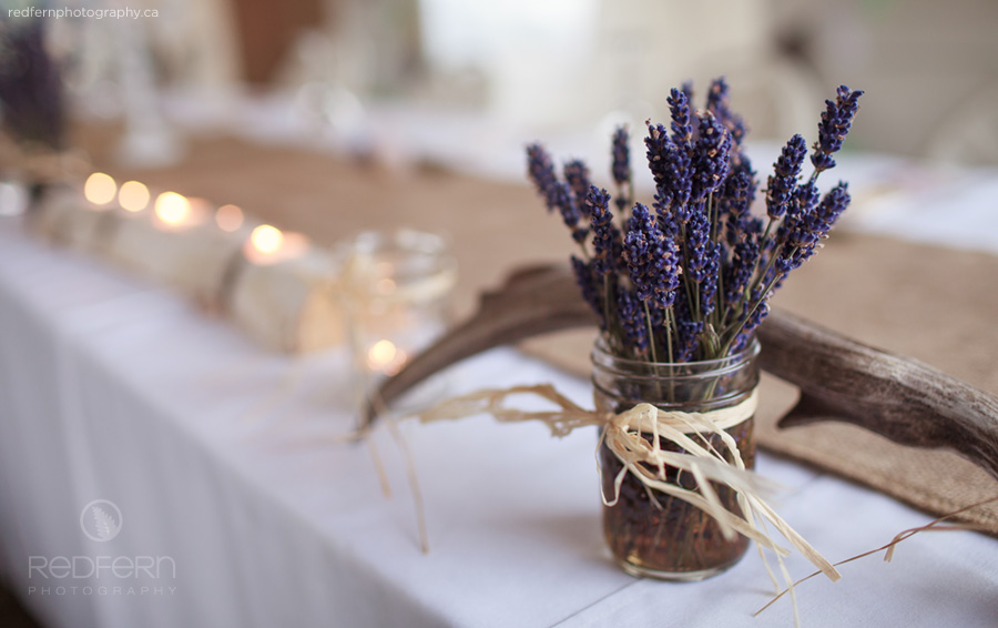rustic wedding decor lavender lavendar
