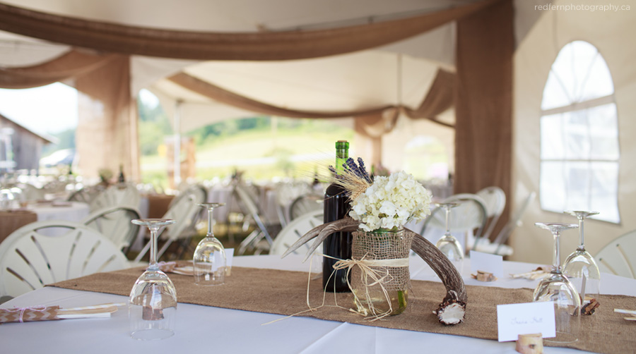 rustic wedding decor outdoor tent reception salmon arm