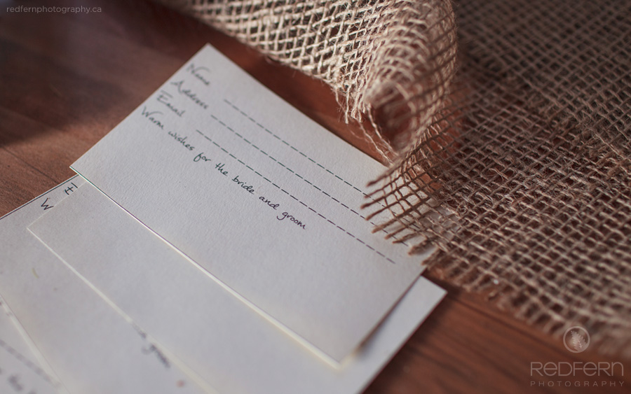 wedding notes rustic decor