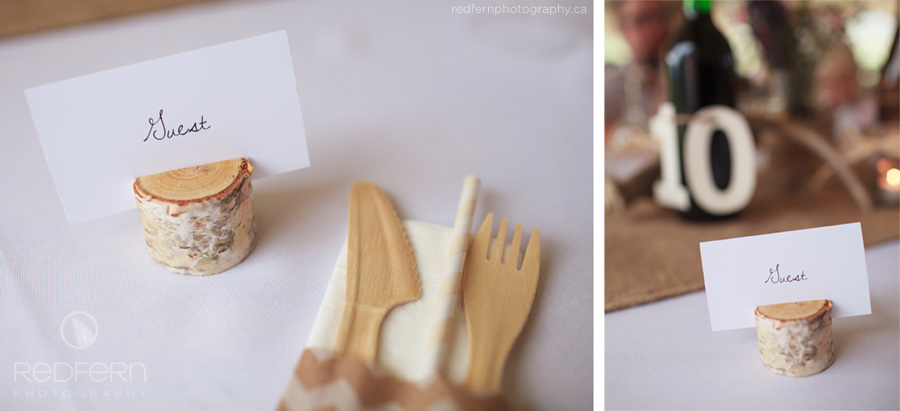 birch place cards wooden cutlery