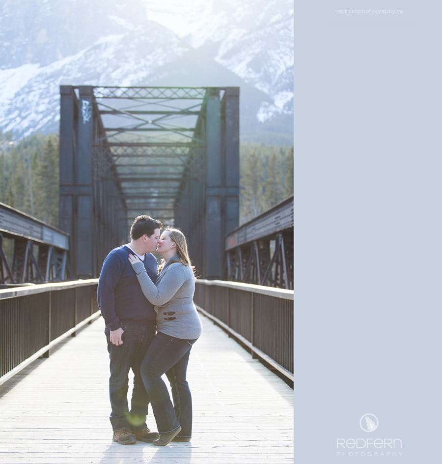 canmore engagement photographer iron bridge railway