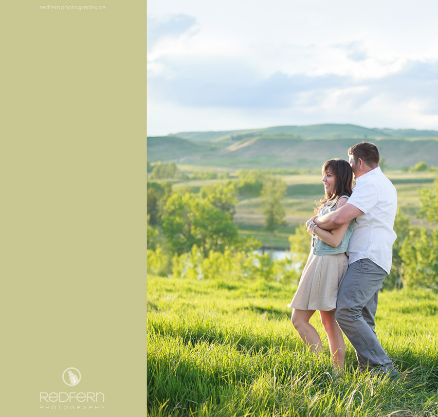 calgary engagement photography field springtime prairie