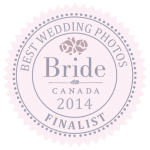 Bride.ca Best Wedding Photos 2014 Finalist