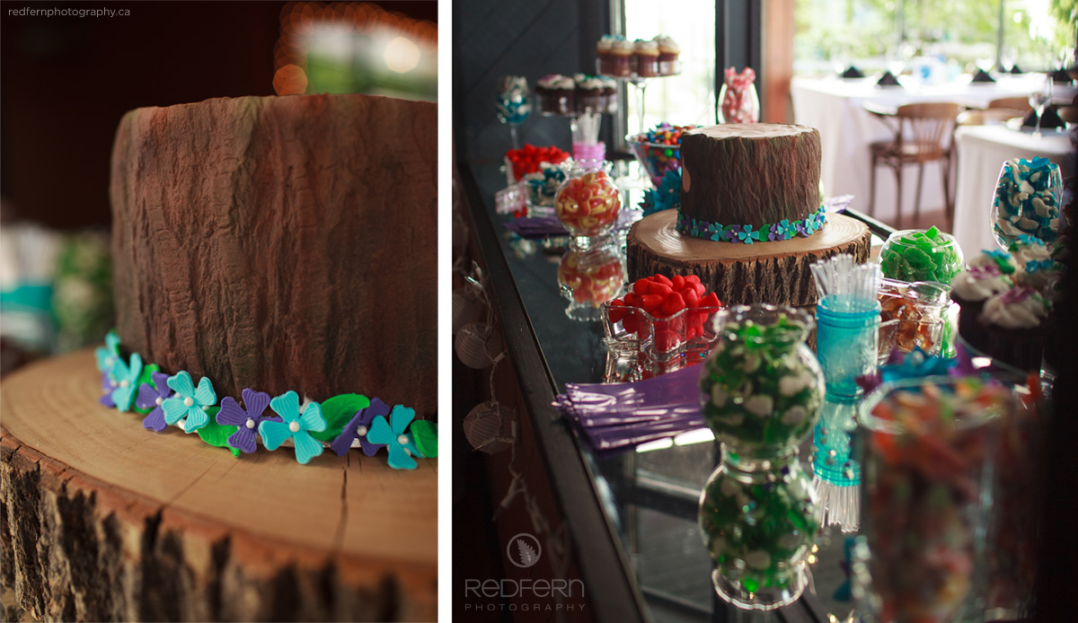 wedding cake kalede okanagan wood candy bar