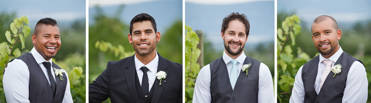 kelowna groomsman pictures in the vineyard vines