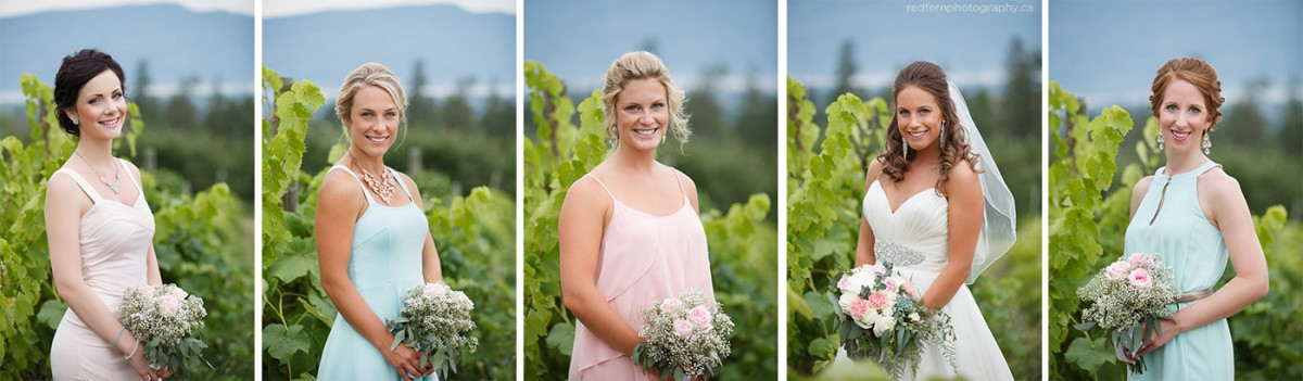 kelowna bridesmaids pastel dresses photos in the vineyard vines