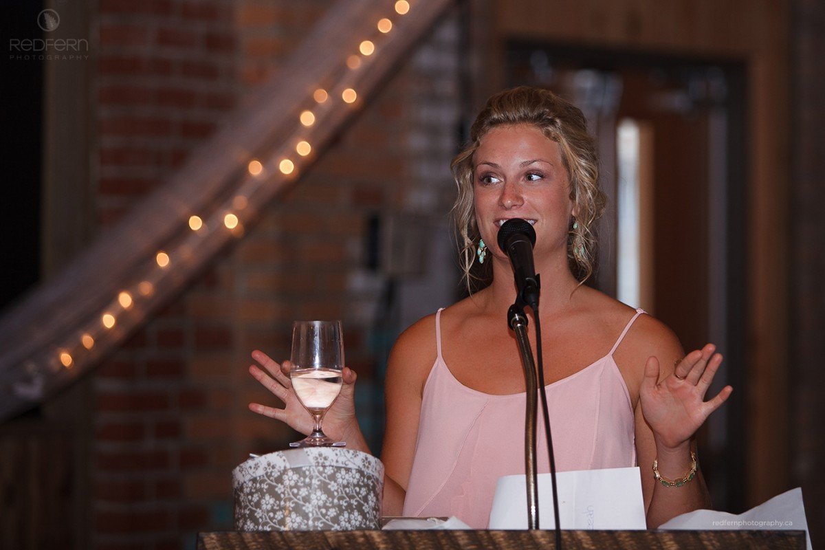kelowna wedding reception laurel packing house speeches